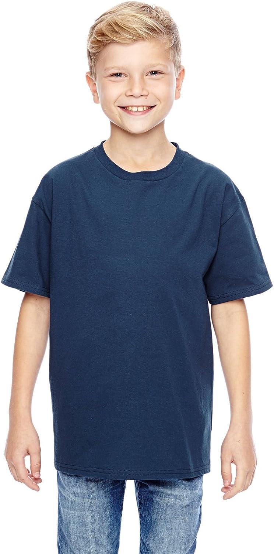 Hanes Youth 4. 100% Ringspun Cotton Nano-T T-Shirt, Navy, X-Large