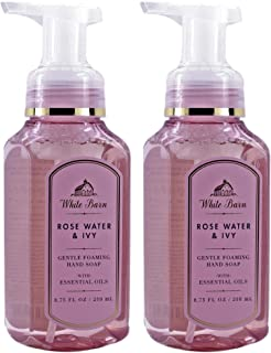 White Barn by Bath & Body Works Rose Water and Ivy 8.75 ounce (2 Pack) Gentle Foaming Hand Soap