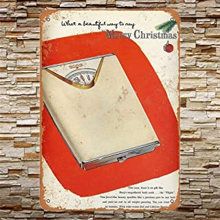 TarSign Borg Bath Scale for Christmas Vintage Wall Decor Plaque Decoration Metal Tin Sign 12