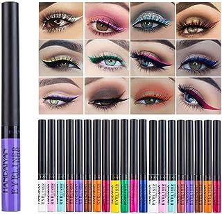 Matte Liquid Eyeliner, 12 Colors Waterproof High Pigmented Colorful Matte Eyeliner Pen Set Long Lasting Makeup Eyeliner fo...