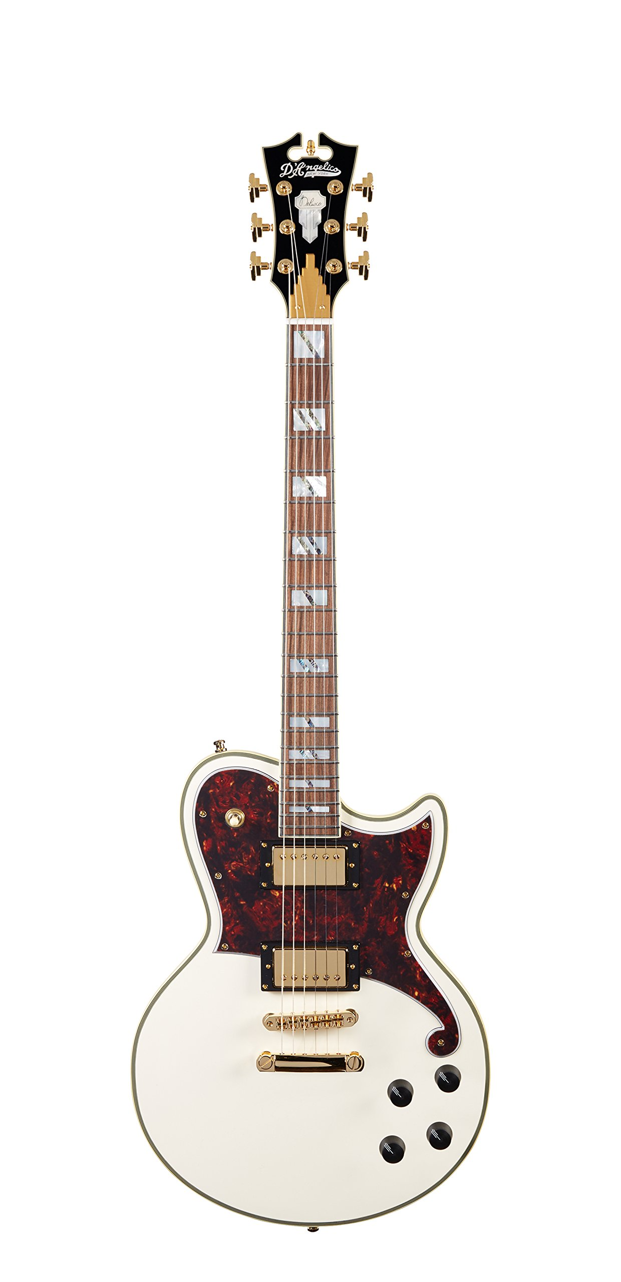 Cheap D Angelico Deluxe Atlantic Electric Guitar - Vintage White Black Friday & Cyber Monday 2019