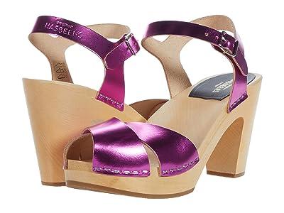 Swedish Hasbeens Merci Sandal (Hot Pink Metallic) Women