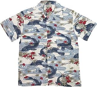 (スタイルド バイ オリジナルズ)Styled by Originals 大鯉流水 和柄 半袖 レーヨン100% アロハシャツ