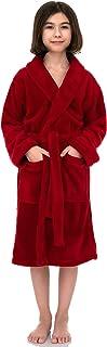 TowelSelections Girls Robe, Kids Plush Shawl Fleece Bathrobe