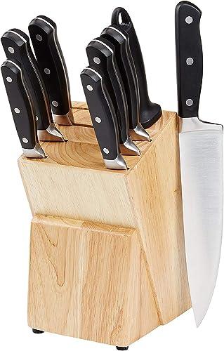 Amazon Basics Bloc de couteaux 9 pièces