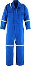 Workrite FR Flame Resistant 4.5 oz Nomex IIIA Industrial Coverall with Reflective Tape, Snap Wrist, 42 Chest Size, Long Length, Royal Blue