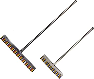 Stainless Steel 36.inch Floor Wiper, 30.inch Bathroom Wiper for Home,Office,Multipurpose use Pack of 2 Multicolor