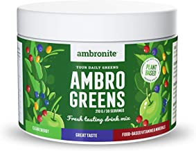 Ambronite AmbroGreens 30 Servings Delicious Green Juice Daily Essential Vitamins and Minerals Clean Energy Gut Friendly No Dairy or GMOs and Gluten Free Estimated Price : £ 30,00