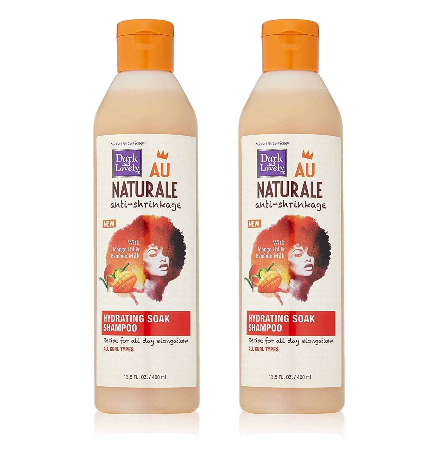 Dark & Lovely Shampoo Au Naturale Hydra+Soak 13.5 Ounce (399ml) (2 Pack)