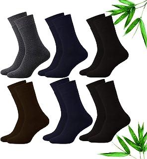 Cotigo, 6 Pares Calcetines Fino de Negocios Para Hombre, Fibra de Bambu Naturaleza Calcetines de Traje Lujo Durables y Transpirables Cómodo