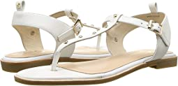 White/Gold Studs Nappa Leather