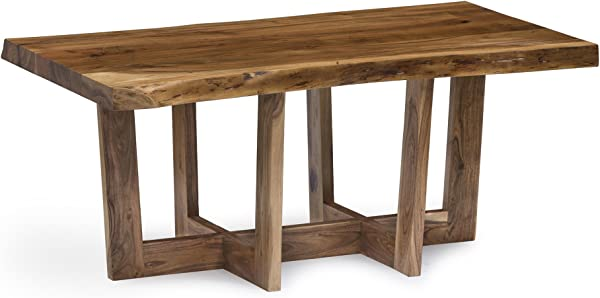 Berkshire Live Edge Solid Wood 42 Coffee Table Natural
