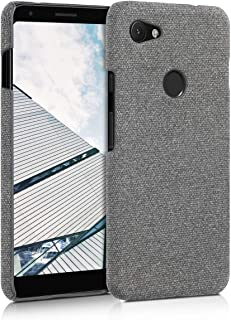 kwmobile Case for Google Pixel 3a XL - Protective Shockproof Back Cover in Canvas - Dark Grey Grey 48735.25