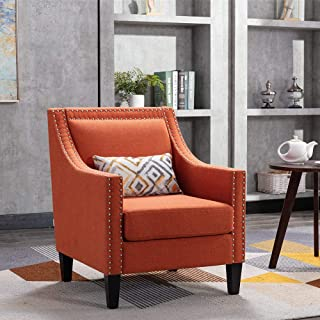 Amazon Com Living Room Chairs Orange Chairs Living Room Furniture Home Kitchen
