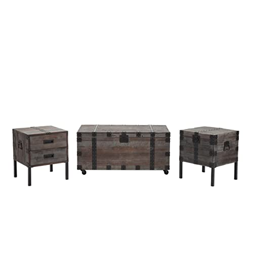Wood Storage Trunk Coffee Table.Trunk Coffee Tables Amazon Com
