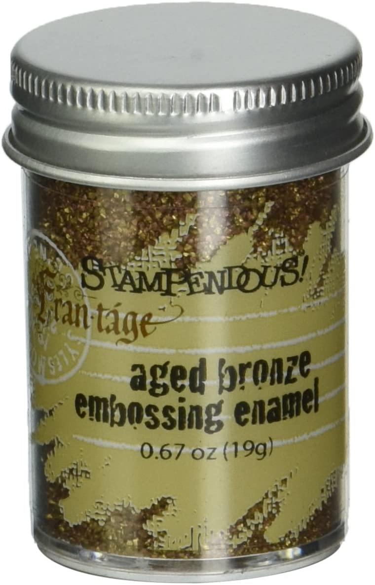 Stampendous Aged Embossing Mail order cheap El Paso Mall Enamel-Bronze