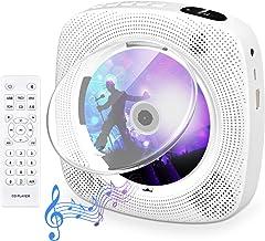 Tragbarer CD Player mit Bluetooth, Gueray Wandmontierbares CD Player Eingebaute..