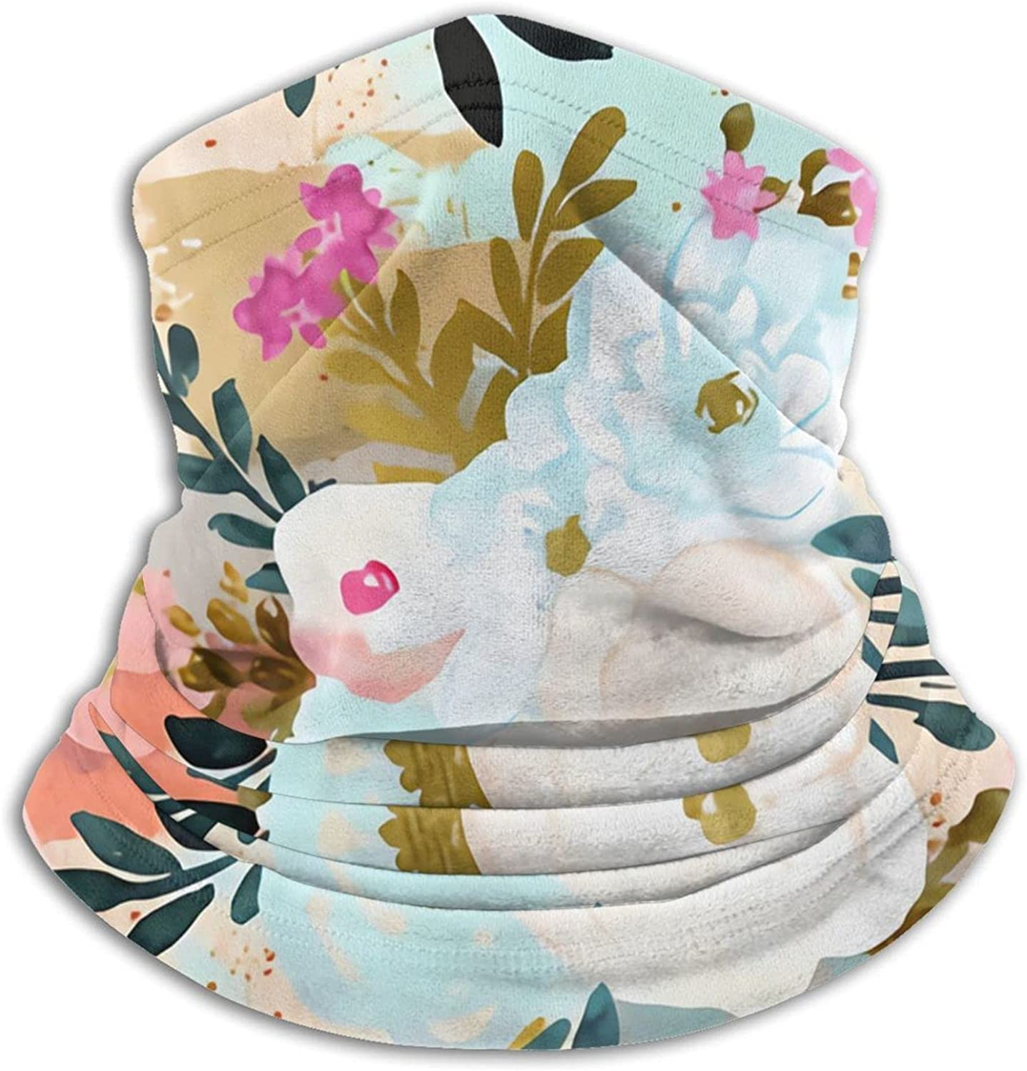Florence Painterly Floral Rotate Bandanas Neck Gaiter Face Mask Scarf Face Shield Black