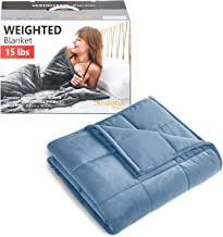 Sedona House Heavy Blue Blanket for Adult 15lbs Size 48