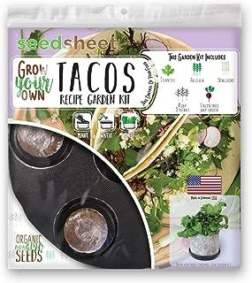 Home Garden Seeds – Seedsheet Grow Your Own Organic Gardening Pods – Eco Friendly Ingredients – Starter – Seedsheet Only (Taco)