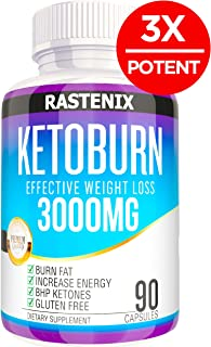 Best Keto Pills - 3X Potent (3000mg | 90 Capsules) - Weight Loss Keto Burn Diet Pills - Boost Energy and Metabolism - Exogenous Keto BHB Supplement for Women and Men - 90 Capsules
