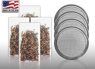 発芽種子:2Xマイクログリーンリッド+ 4200種:メイソンジャーのためにUSDAオーガニックアインシュタインサラダミックス発芽種子+マイクログリーンふた