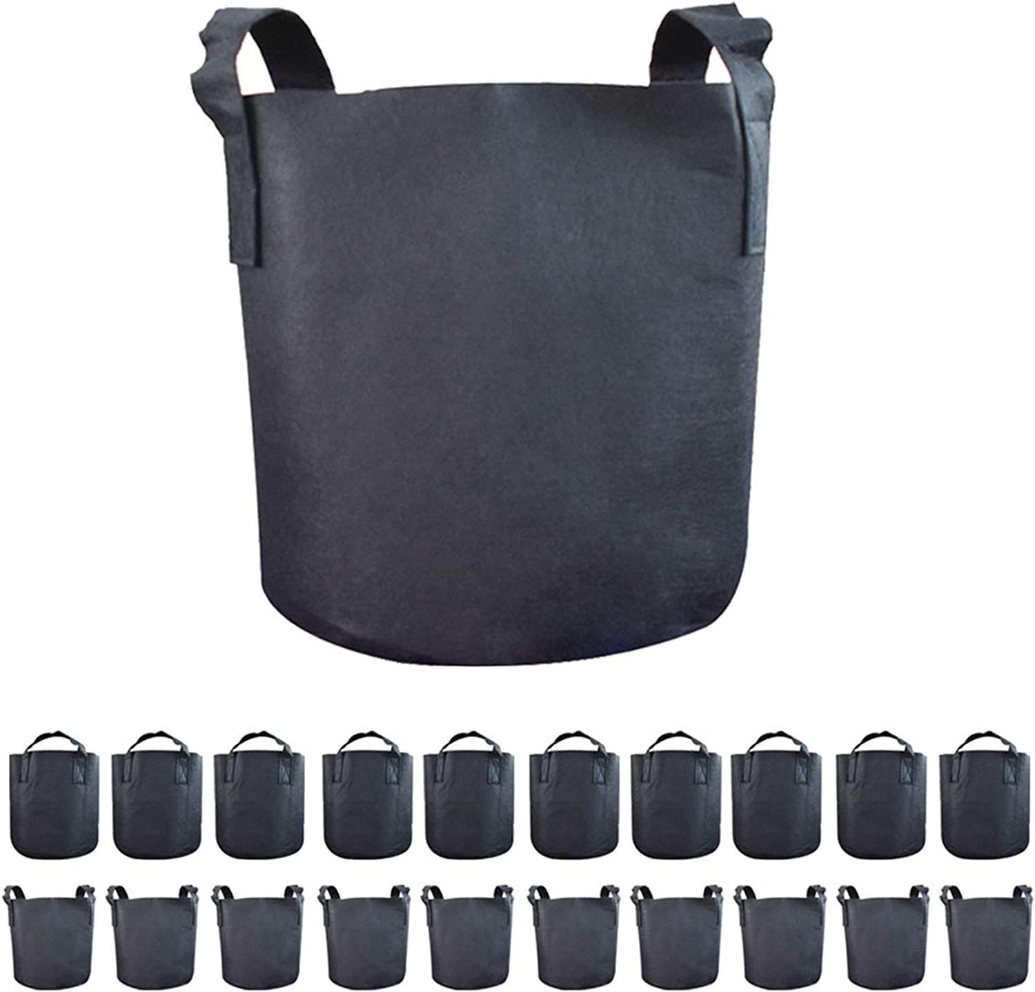 labworkauto Grow Bags Fabric Max SEAL limited product 58% OFF Bag Handl Pots Plant with