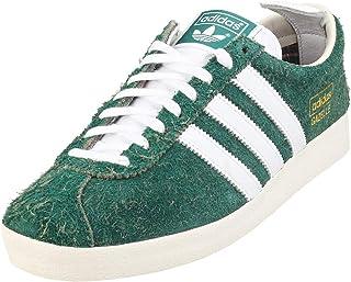 adidas Originals Gazelle Vintage, Collegiate Green-Footwear White-off White, 9,5
