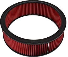 A-Team Performance Air Filter Element Air Cleaner High Flow Replacement Washable and Reusable Round Cotton Fiber Compatible with Buick Chevrolet GMC Ford Mopar Oldsmobile Pontiac Red 14