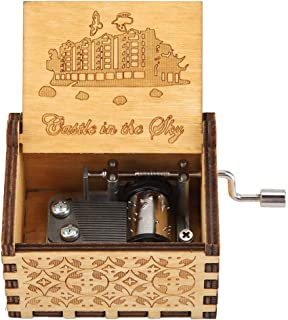 Fdit1 Classic Carved Wooden Music Box Hand Crank Musical Box