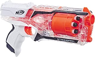Strongarm Nerf N-Strike Elite Toy Blaster with Rotating Barrel, Slam Fire, and 6 Official..
