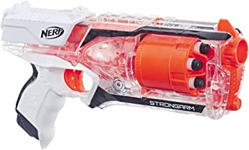 Strongarm Nerf N-Strike Elite Toy Blaster with Rotating Barrel, Slam Fire, and 6 Official Nerf Elite Darts for Kids, Teens...