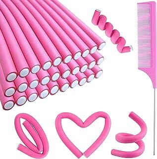 30PCS Flexible Curling Rods Hair Twist Flexi Rods Hair Curlers Set, Twist Foam Hair Rollers No Heat Hair Rods Rollers Hair...