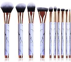 Makeup Brushes Set, 10pcs Professional Marble Makeup Brushes with Blush Foundation Highliter Brush, Eeyshadow Concealer...