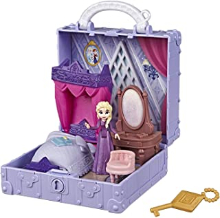 Disney Frozen Pop Adventures Elsa's Bedroom Pop-Up Playset with Handle, Including Elsa Doll, Diary, Chair, & Blanket Acces...