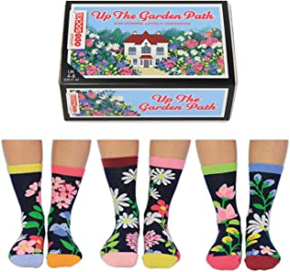 Up The Garden Path - United Oddsocks - caja de 6 pares de calcetines para mujer – tallas 37 - 42