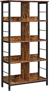 VASAGLE Librería con 8 Compartimentos Estantería para Libros Armario Abierto para Oficina salón Dormitorio 80 x 33 x...