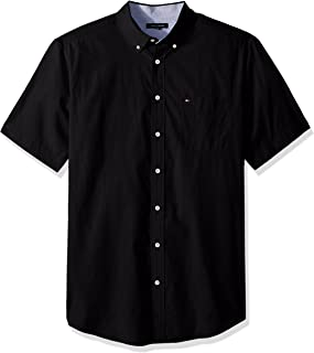 Tommy Hilfiger Men's Big and Tall Button Down Short Sleeve Shirt Maxwell