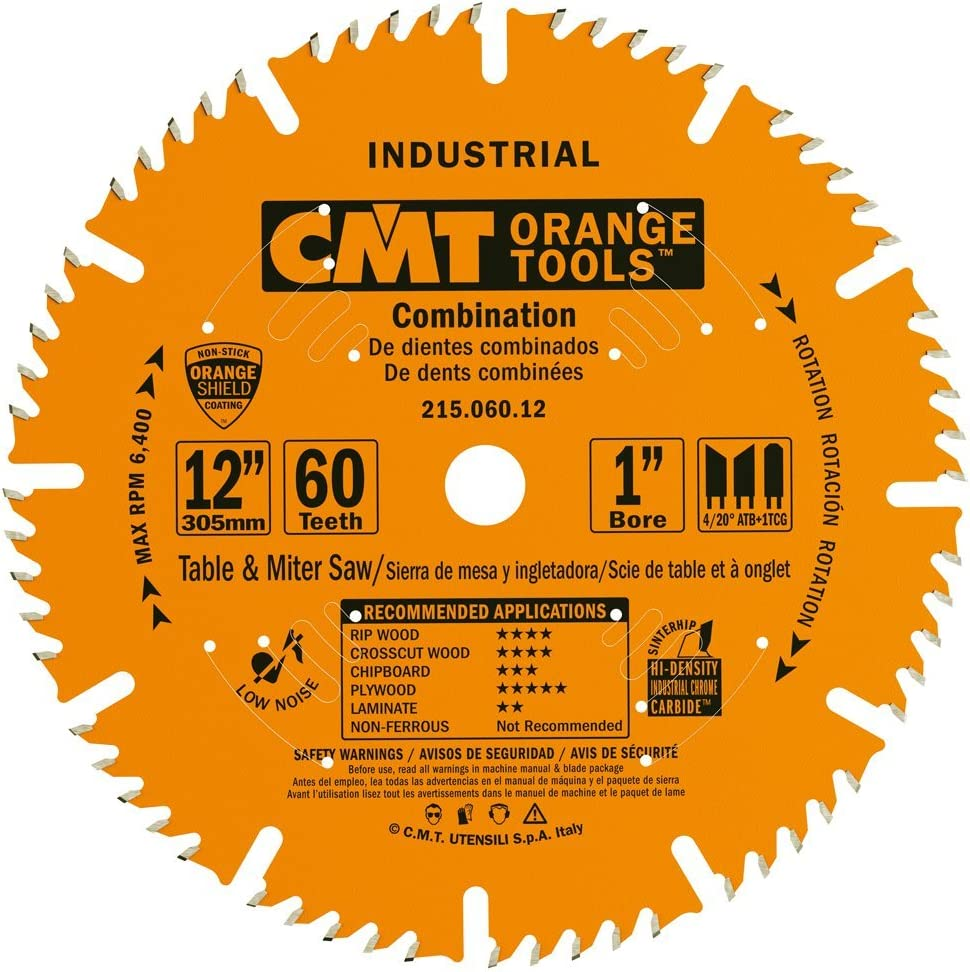 Gifts High quality CMT 215.060.12 Industrial Combination Saw 12-Inch x Blade 60 Te