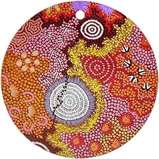 CafePress Australian Aboriginal Art 2 Round Holiday Christmas Ornament