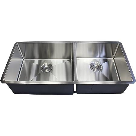 35 cm liso y duradero Fregadero empotrable de acero inoxidable de acero inoxidable dimensiones exteriores 41 x 19 cm redondo lavabo con desag/üe