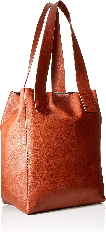 edc by Esprit Accessoires Venetia Shopper, Sacs portés épaule Marron (Rust Brown)