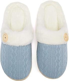 Fuzzy Slippers Womens Comfy Memory Foam House Slipper...
