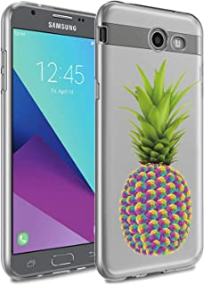 WALAGO Galaxy J7 V Case,Slim Shockproof Clear Pineapple Floral Soft Flexible TPU Back Cove for Samsung Galaxy J7 V / J7 20...