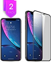 2Pack Compatible with iPhone 11 iPhone XR Privacy Screen Protector 6.1 inch Premium 3D Coverage Edge Anti Spy Tempered Glass Screen Protector for iPhone 11 2019 Case Friendly