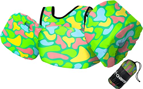Chriffer Kids Swim Vest for 30-50 Pounds Boys and Girls, Toddler Floats with Shoulder Harness Arm Wings for 2,3,4,5,6...