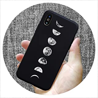 Fashion Pattern Silicone case for iPhone 7 6 6S 8 Plus X 5 S 5S SE XS Max XR Matte Phone Set Star Moon Mobile Phone case,SY0087,for iPhone Xs Max
