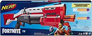 Nerf Fortnite TS Blaster -- Pump Action Dart Blaster, 8 Official Nerf Mega Fortnite Darts, Dart Storage Stock -- For Youth...