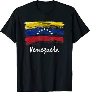 Venezuela 7 Star Flag Camiseta Franela Venezuela T-Shirt