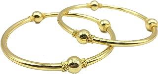 Classiques Gold Plain Bangles